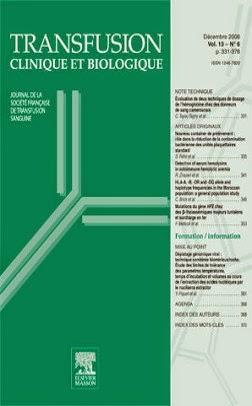 couverture de la publication : Hémovigilance à Tunis (hôpital La Rabta): bilan 2007-2013