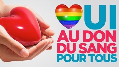 un coeur sur la main pour dire oui au don de sang pour tous