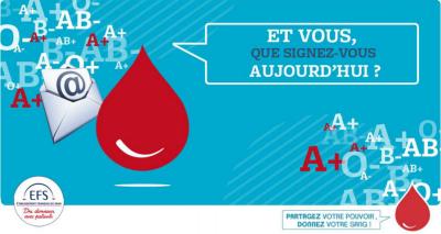Campagne de promotion du don de sang par les e-mail
