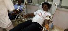 photo d'un donneur de sang lors d'un don du sang